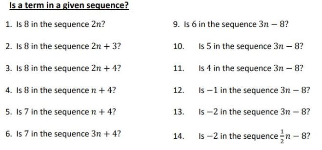is a term in a sequence