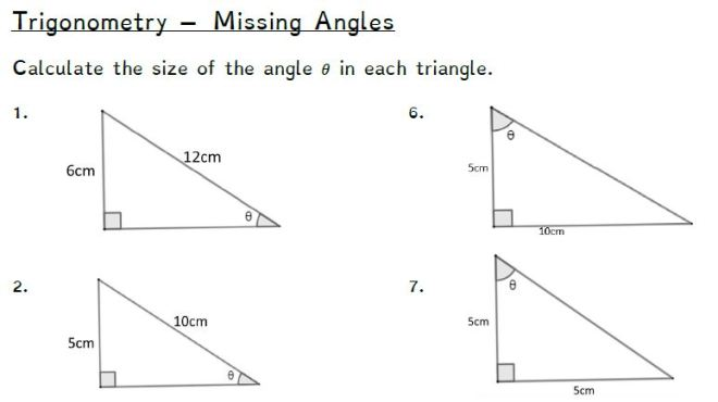 trig missing angles