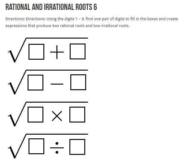 rational irrational roots