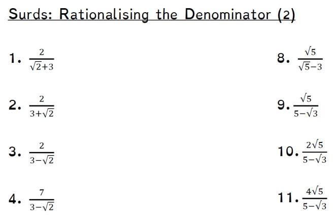 rationalising denominator tricky
