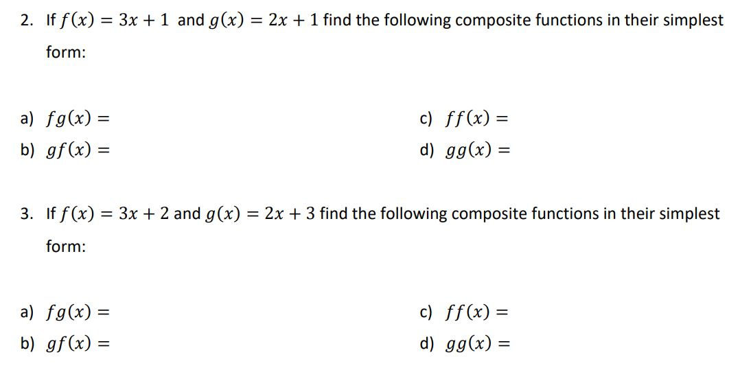 forming composite functions